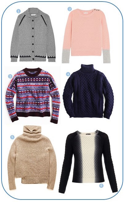 MiH, Chini & Parker, J.Crew, Babaton and Vince sweaters