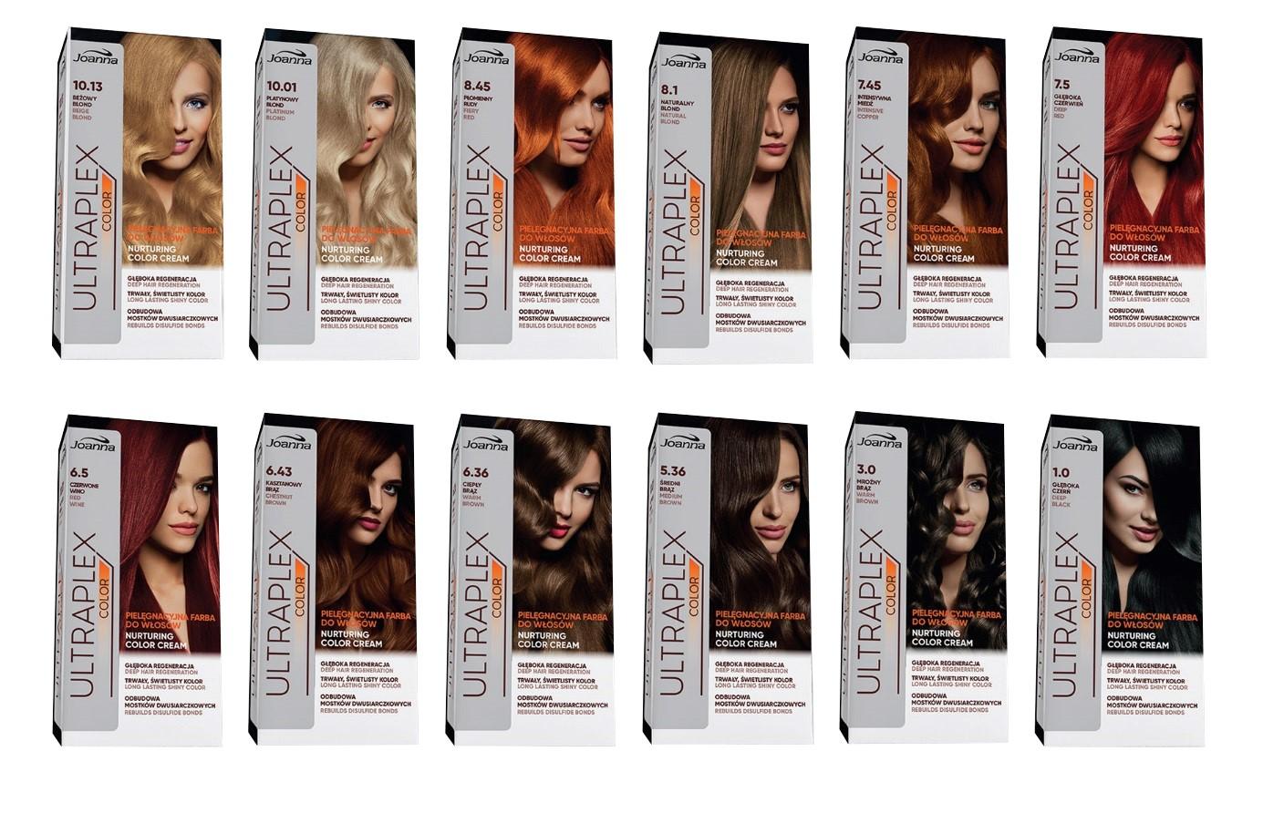 Nowa linia pielęgnacyjnych farb do trwałej koloryzacji włosów Ultraplex od Laboratorium Kosmetycznego Joanna