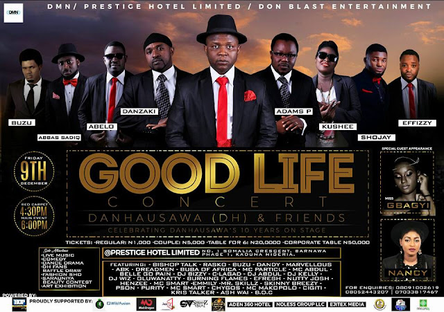 THE KADUNA GOODLIFE CONCERT Celebration of DH 10 years on stage