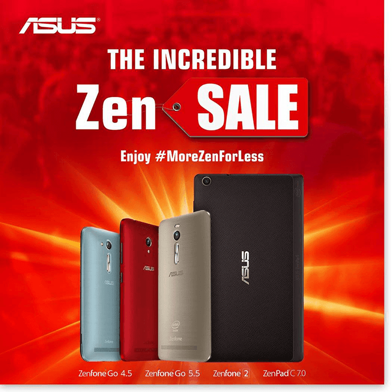Asus Holds Incredible Zen Sale, Drops The Price Of ZenFone 2 Models And ZenPad C!