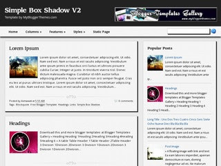 Simple Box Shadow V2 Blogger templates