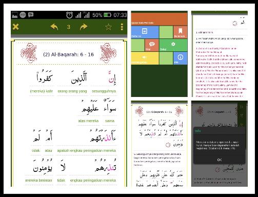 Quraan Perkata, Aplikasi Alquran Android dengan terjemahan Per-kata