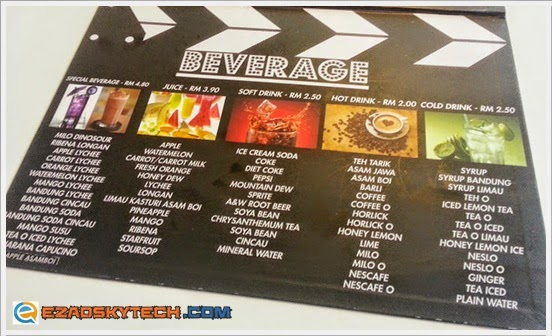 Menu BEVERAGE Pak Uda Kitchen & Grill