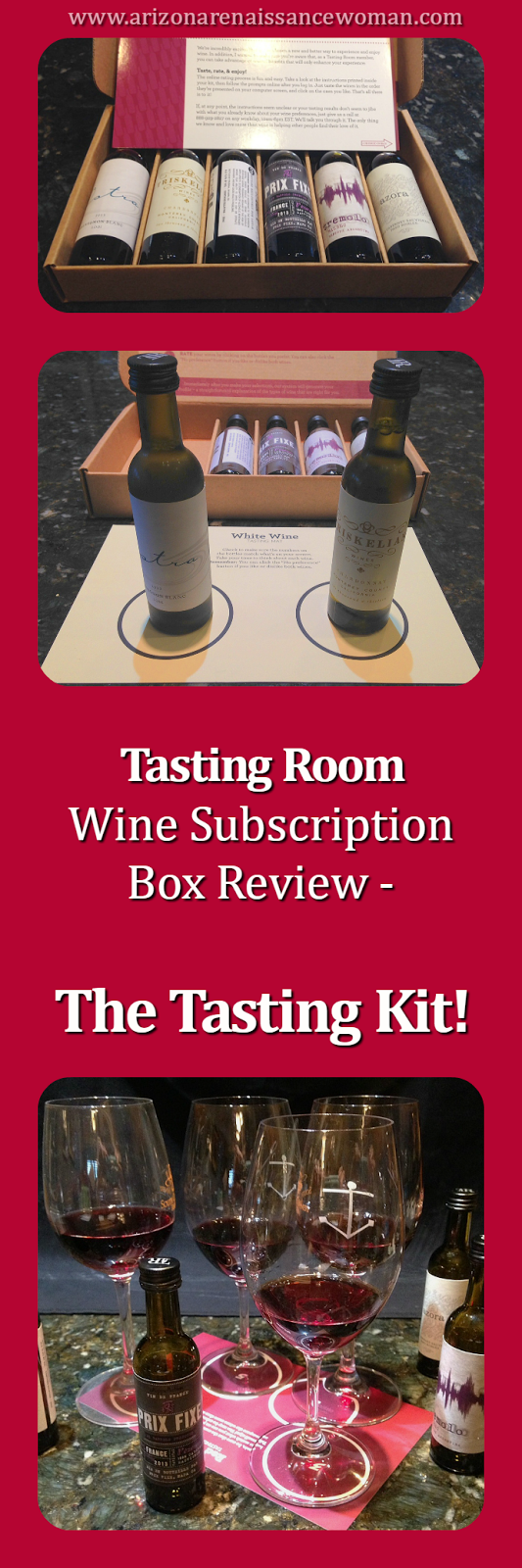 Tasting Room Wine Subscription Box Review - The Tasting Kit - Collage