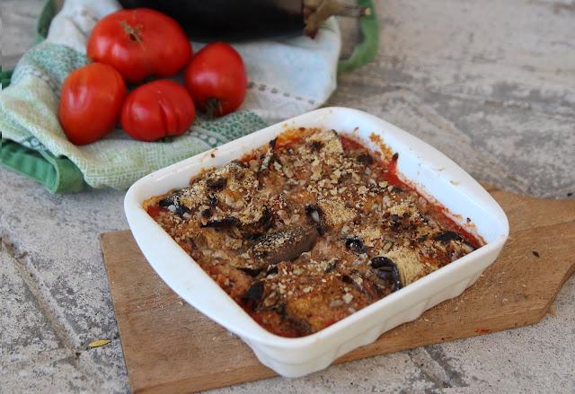 Cuillère et saladier : Cannelloni d'aubergine vegan (deux versions : okara ou tofu)