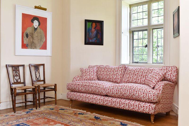 Alwinton Large Sofa In Rosehip Rose