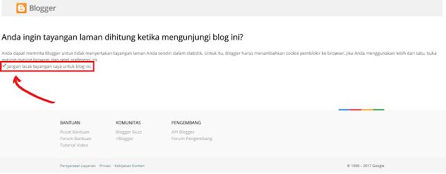 Klik Sendiri Tidak Dihitung Sebagai Pengunjung Blog