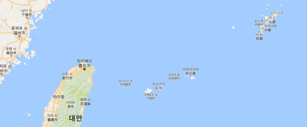 오키나와의 섬들 지도