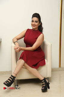 Telugu Tollywood Anchor Manjusha Pos in Red Short Dress  0095.JPG