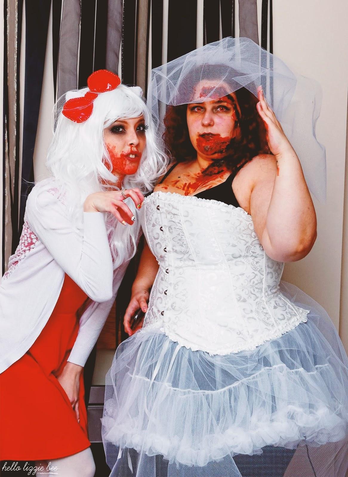 zombie hello kitty, zombie bride
