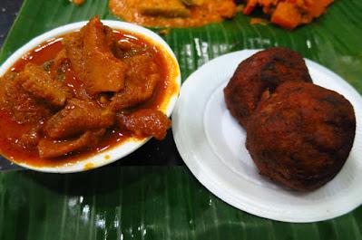 Gandhi Restaurant, mutton tripe fish cutlet
