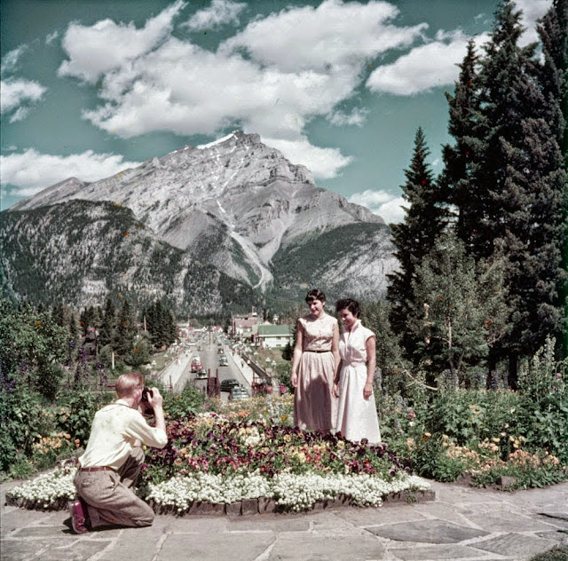 Canadians in Banff in the 1950s