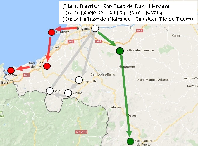 Mapa Pais Vasco Frances.3 Dias En El Pais Vasco Frances I Biarritz San Juan De