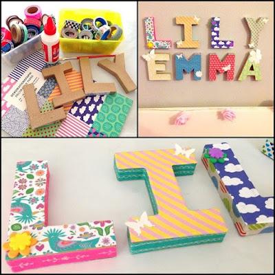 Letras decorativas para el cuarto del bebé