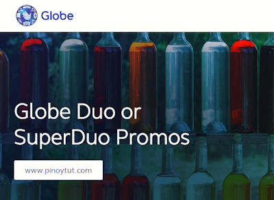 Globe Duo or SuperDuo Promo 2018