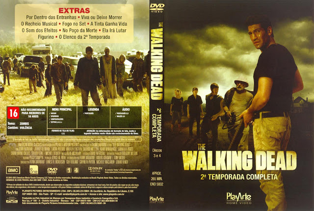 Capa DVD The Walking Dead Segunda Temporada