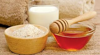 trị tàn nhang bằng hỗn hợp cám gạo+mật ong+sữa chua