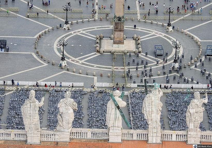 Praça São Pedro - espaço da audiência papal - Como ver o papa no Vaticano - Papa Francisco