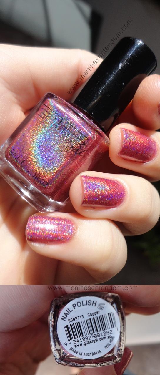 Esmalte holográfico rosa