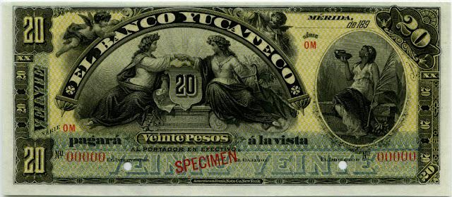 Mexican money 20 Pesos bill