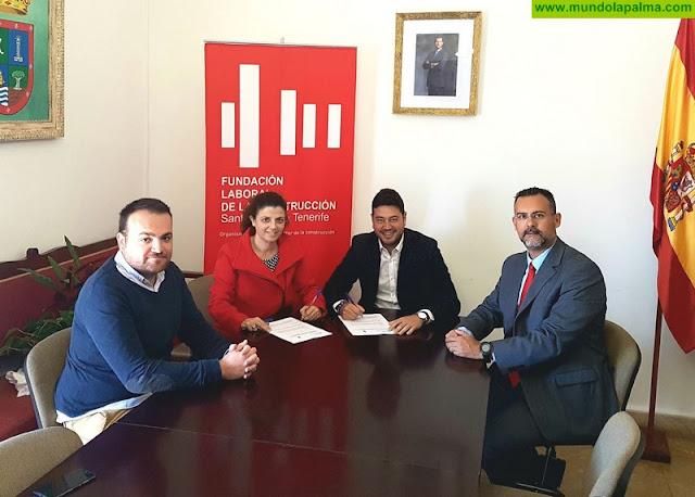 El Ayuntamiento de Barlovento y La Fundación Laboral de La Construcción firman un convenio para la formación en este sector