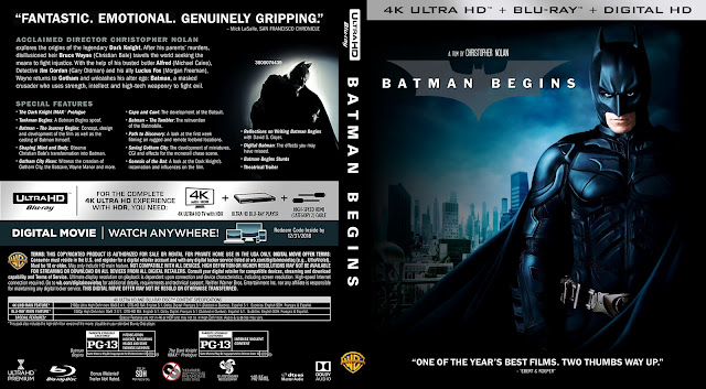 Batman Begins 4k Bluray Cover