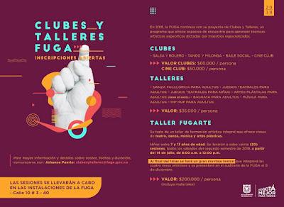 Clubes y talleres 2018 FUGA
