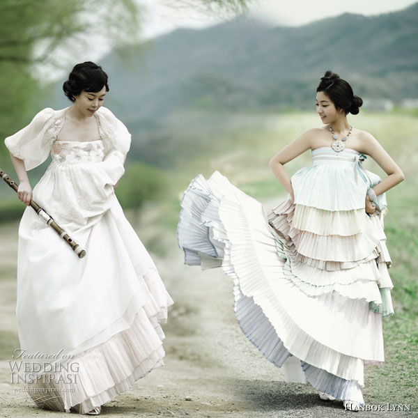 Wedding Gown Korean Style: And This Is The Fashionable (._.): Fusion Hanbok Modern