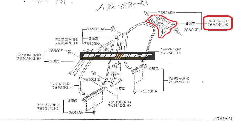 TWY TRADING: Nissan Cefiro A32 OEM Genuine Parts Diagrams