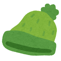 ニット帽のイラスト(緑)