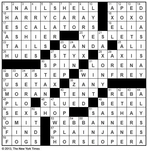 The New York Times Crossword in Gothic: 06.28.13 — The