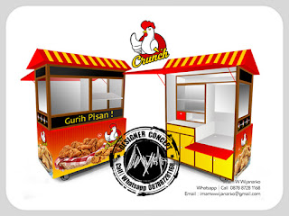 produksi gerobak fried chicken