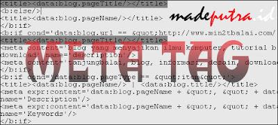 Cara Memasang Meta Tag Otomatis