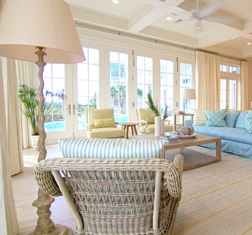 Pastel Beach Home In Blue Yellow Seafoam Completely Coastal