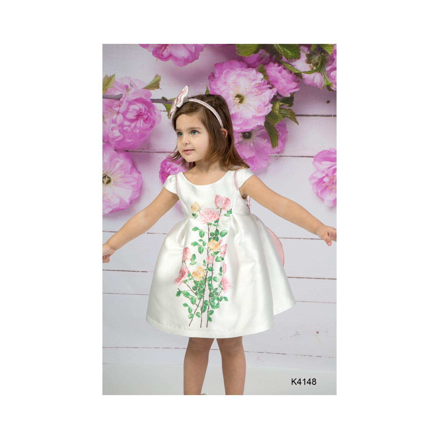Floral christening clothes for girls K4148