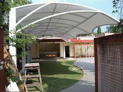 harga tenda membrane dengan desain minimalis ini harga nya cukup murah yaitu kami menawarkan harga untuk pembuatan tenda membrane seperti ini dengan harga 850.000 per meter nya, dan sudah termasuk rangka dan juga pemasangan nya.
