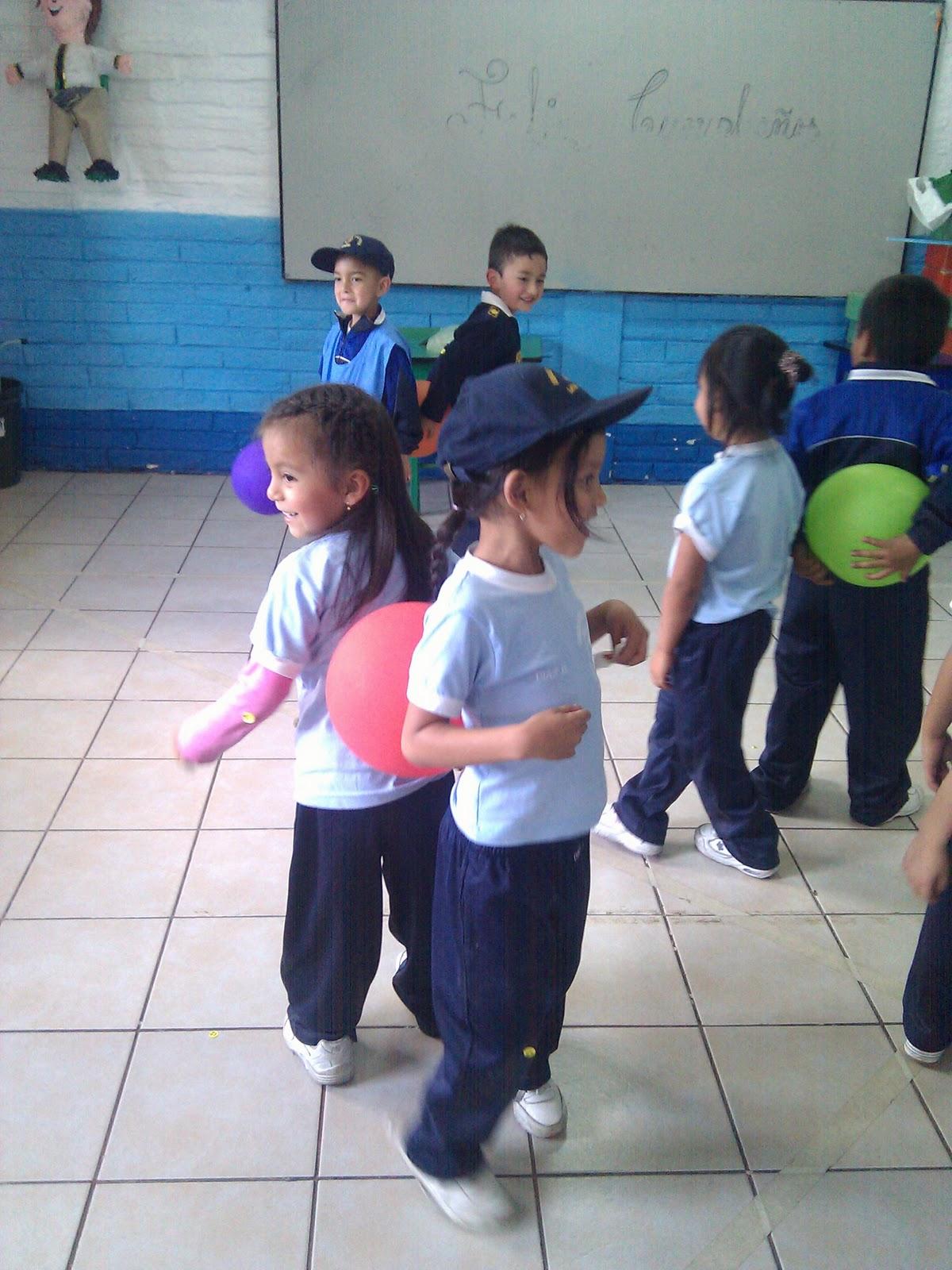 Educacion Fisica Baile Del Globo Esquema Corporal