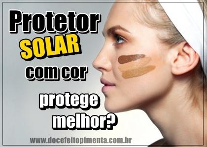 Protetor Solar com cor protege melhor