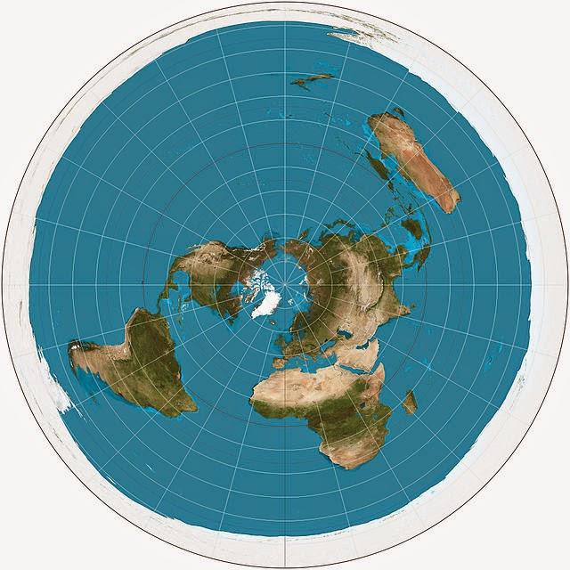 proyección cartográfica azimutal, plana, polar, equidistante