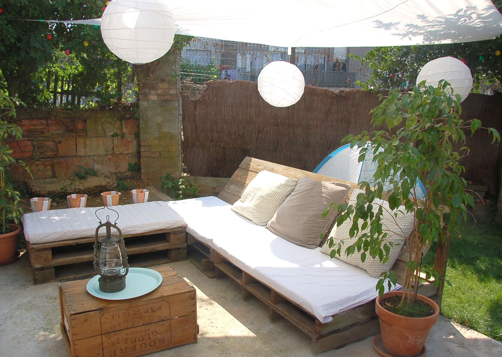 Salon De Jardin Palette Deco | Salon De Jardin Encastrable Résine ...