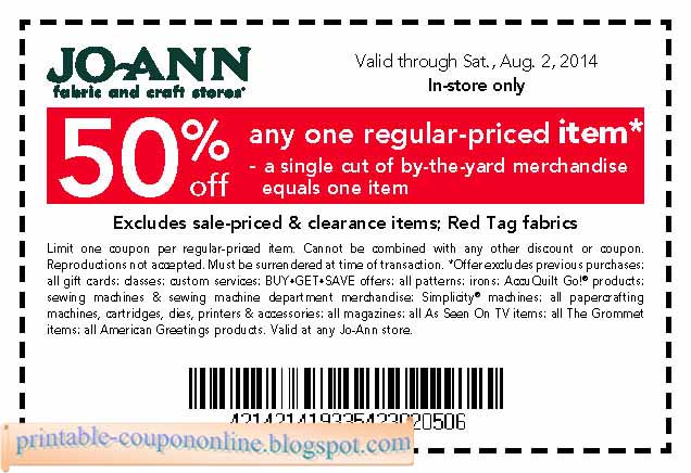 Joann fabrics coupons 2019