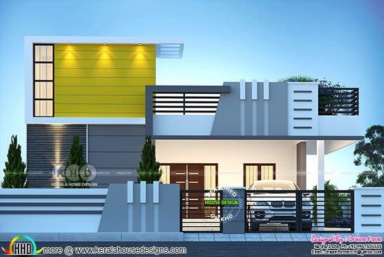 Single floor 3 bedroom modern style house rendering