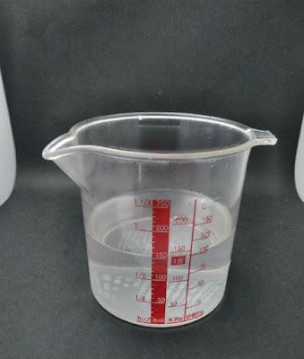 炭酸カリウムを完全に溶解させる