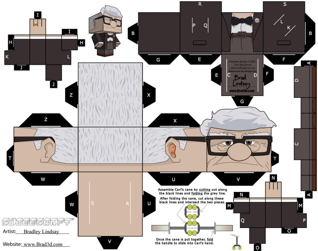 Casinha de Criana Brinquedos de Papel em 3D Para Imprimir e Montar Personagens
