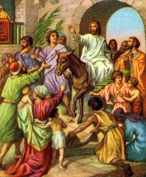 Crônica Dominical 20/04/2014 – Reflexões sobre a essência da Páscoa - Foto: Jesus entrando em Jerusalém de burro - Foto do site www.fotodejesus.com.br