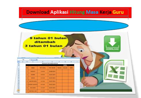 Download Aplikasi Hitung Otomatis Masa Kerja Guru File Excel Geratis
