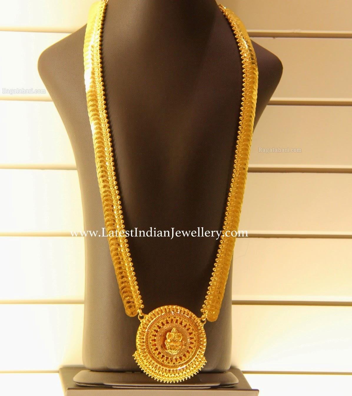 Plain Gold Kasu Mala Latest Indian Jewellery Designs