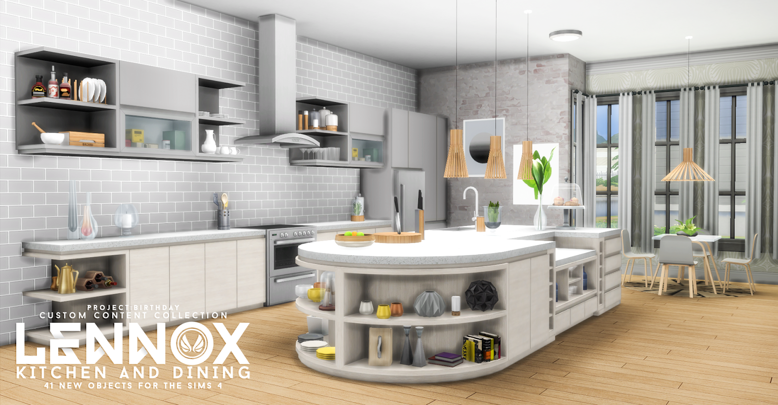 My Sims 4 Blog Updated Lennox Kitchen And Dining Set by  : lennox styled 02 from mysims4blog.blogspot.com size 1600 x 833 png 1609kB