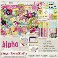 kit : Because I'm Happy by GingerScraps designers