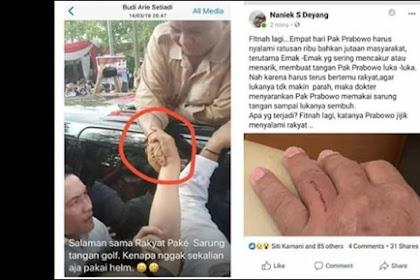 Finah Lagi, Prabowo di Komentari Miring Karena Menyalami Warga Pakai Sarung Tangan, Ini Alasannya